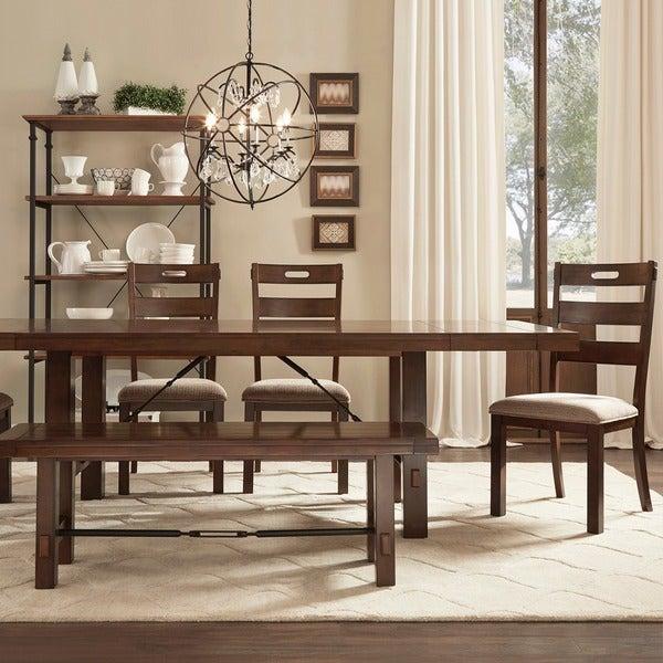 rustic oak turnbuckle 6 piece dining set 14319520 overstock