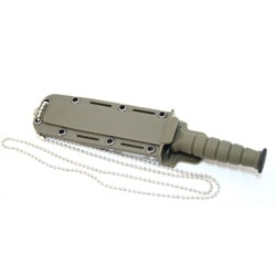 Green 6-inch Mini Survival Knife with Chain Holder and Sheath