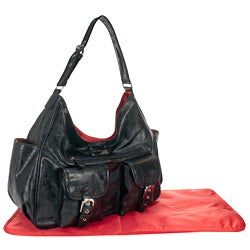 Amy Michelle Sweet Pea Black Diaper Bag