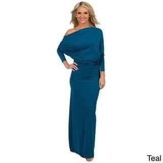Tabeez Women's Draped Jersey Dress