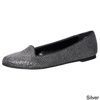 Sam & Libby Women's 'Actra' Glitter Smoking Flats