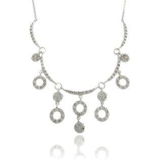 Silver Overlay Diamond Accent Circles Necklace (I-J, I2-I3)