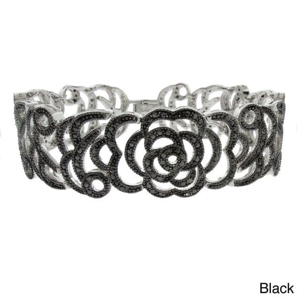 Finesque Diamond Accent Flower Bracelet (I-J, I2-I3)