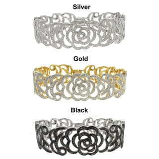 Finesque  Fusion Diamond Accent Flower Bracelet (I-J, I2-I3)