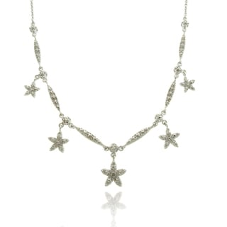 Finesque Silver Overlay Diamond Accent Star Necklace (I-J, I2-I3)