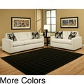Furniture of America Contemporary Two-Piece Sofa and Loveseat Set