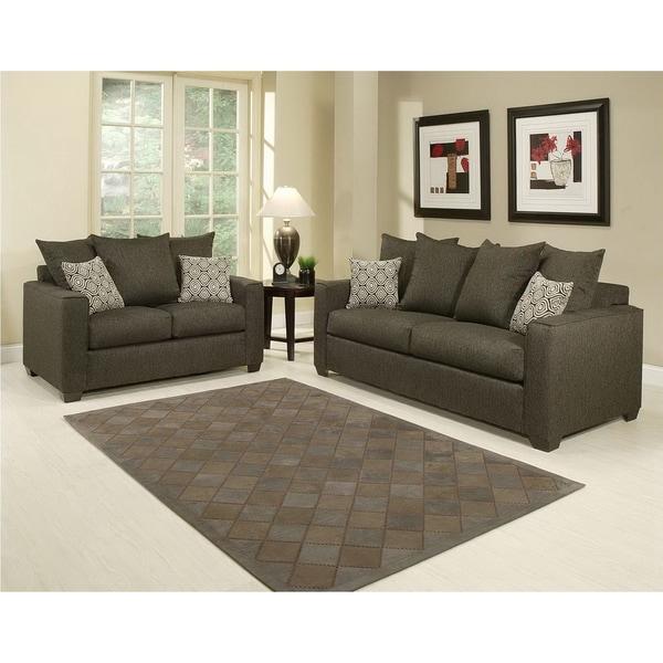 Furniture of America Barbado Contemporary 2-piece Sofa Set