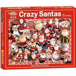 Lori Schory Crazy Santas 1000-piece Jigsaw Puzzle