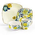 Waverly Fiore Di Acqua 16-piece Dinner Set