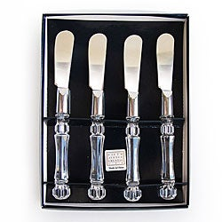 Crystal Clear Spreaders with Clear Handle (Set of 4)