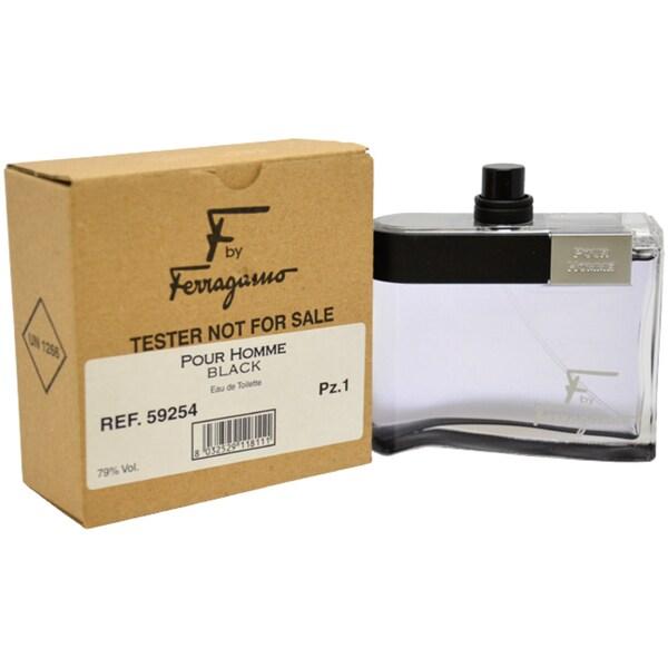 Salvatore Ferragamo 'F Pour Homme Black' Men's 3.4-oz Eau De Toilette Spray (Tester)