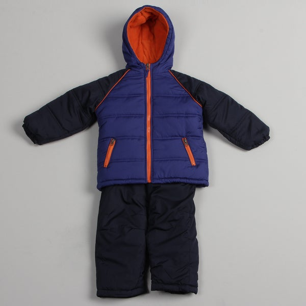 iXtreme Toddler Boy's Navy Puffer Snowsuit