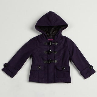 Velvet Chic Girl's Purple Wool Blend Hooded Jacket FINAL SALE