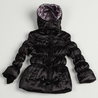 Velvet Chic Girl's Black Puffer Jacket