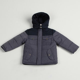 Airwalk Boy's Denim Colorblock Puffer Jacket FINAL SALE