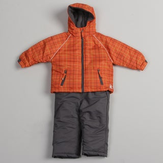 Rugged Bear Toddler Boys' Orange Snowsuit