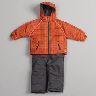 Rugged Bear Toddler Boys' Orange Snowsuit