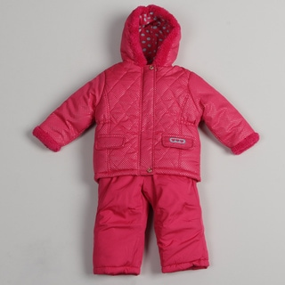 Pink Platinum Toddler Girls' Fuchsia Snowsuit