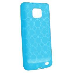 Blue Circle TPU Case/ Screen Protector for Samsung Galaxy S II i9100