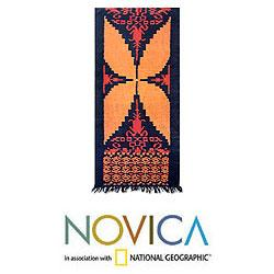 Cotton 'Yellow Butterfly' Wall Hanging (Indonesia)