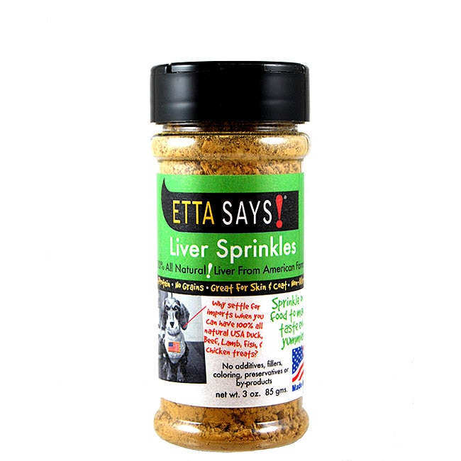 Etta Says All-natural Liver Sprinkles Dog Treat (Three Ounces)