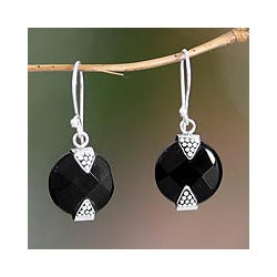 Sterling Silver Sylph Onyx Earrings (Indonesia)