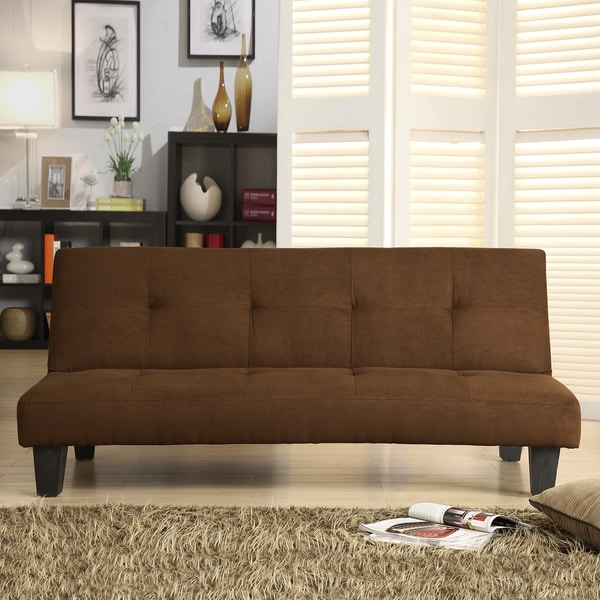 Bento Klic Klac Mini Brown Microfiber Futon Sofa Bed