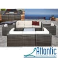 Messina Grey/Off-White 9-piece Wicker Set
