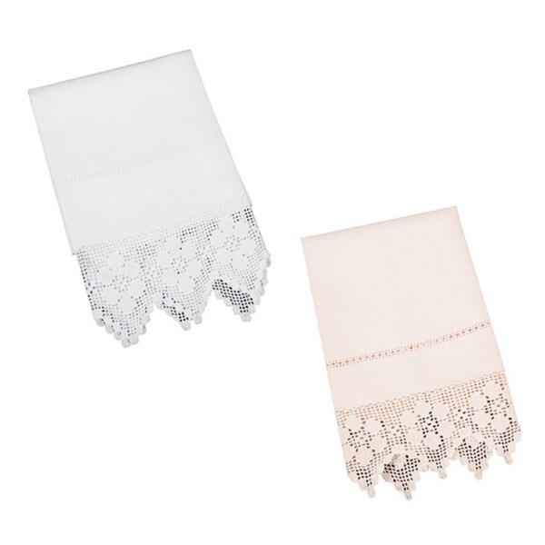 Filet Crochet Guest Towel