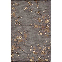 Hand-tufted Grey/ Brown Rug (5' x 7'6)