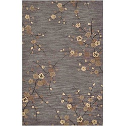 Hand-tufted Gray/ Brown Area Rug (7'6 x 9'6)