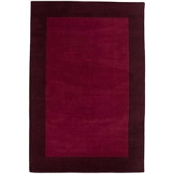 Hand-tufted Maroon/ Brown Rug (2' x 3')