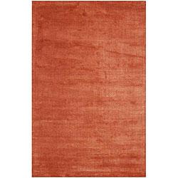 Hand-tufted Orange Wool Blend Rug (3'6 x 5'6)