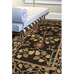 Hand-Tufted Traditional Brown Wool RunnerRug (2'6