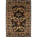 """Hand-Tufted Traditional Brown Wool RunnerRug (2'6"""" x 8')"""