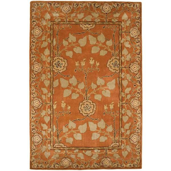 Hand Tufted Orange Wool Rug (3'6 x 5'6)