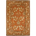 Hand Tufted Orange Wool Rug (2'6 x 8')