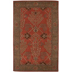 Hand Tufted Red Wool Rug (2'6 x 8')