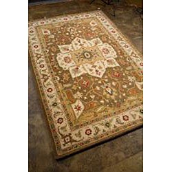 Hand Tufted Brown Wool Rug (2' x 3')