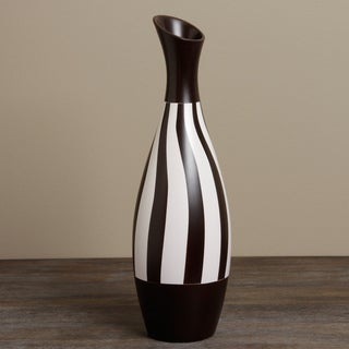Habitad Black and White Ceramic Vase (Peru)