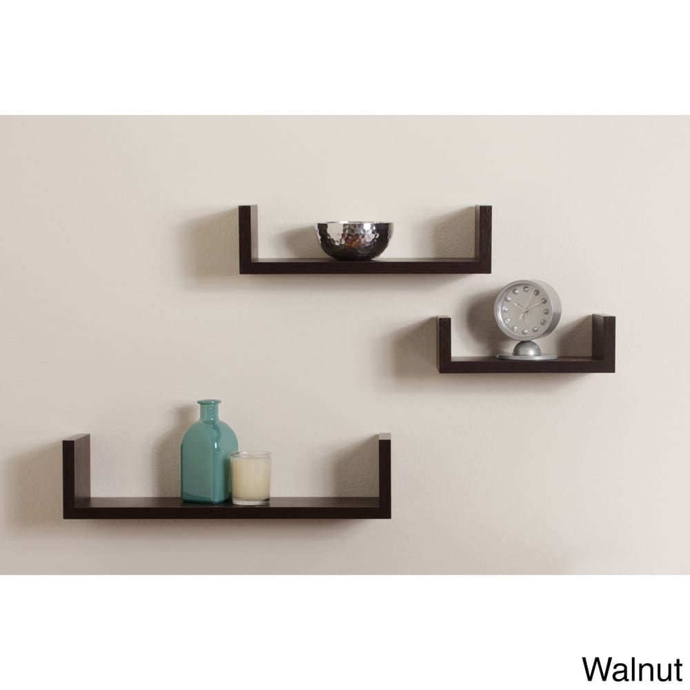 Floating U Shelf Set of 3