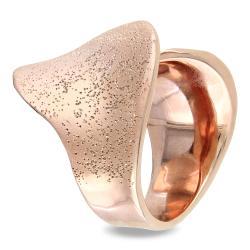 Rose 18-karat-gold-plated Fashion Band-style Matte-finish Ring