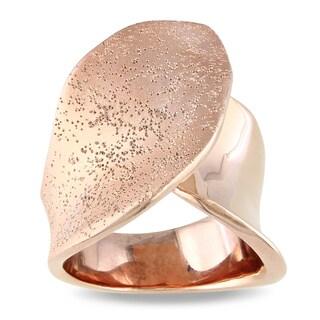 M by Miadora Rose 18-karat-gold-plated Fashion Band-style Matte-finish Ring