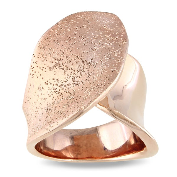 M by Miadora Rose 18-karat-gold-plated Fashion Band-style Matte-finish Ring