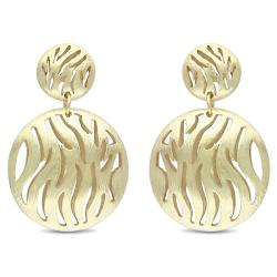 Women's 18-karat Matte-finish Gold-plated Metal Dangle Earrings
