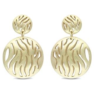 M by Miadora Women's 18-karat Matte-finish Gold-plated Metal Dangle Earrings