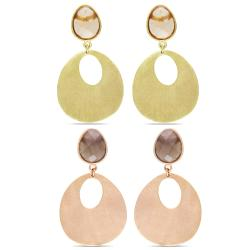 Miadora 18k Yellow Gold-plated Gemstone Dangle Earrings