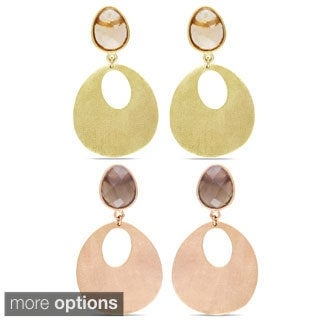 M by Miadora 18k Yellow Gold-plated Gemstone Dangle Earrings