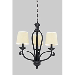 Charleston Three-Light Matte-Black Pendant Fixture