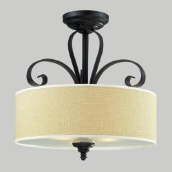 Charleston 3-light Black Flush Mount